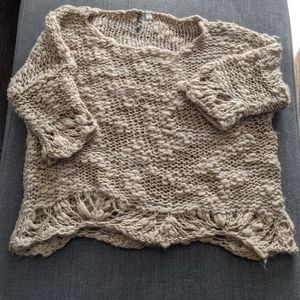 Black Swan Crocheted Sweater Size Small